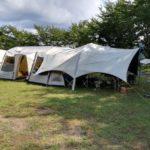 テントとヘキサタープの合体