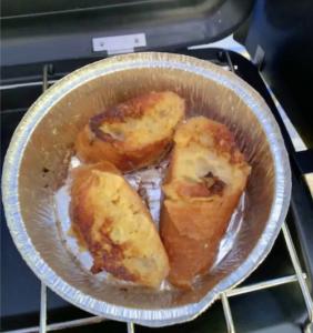 キャンプ朝ご飯 フレンチトースト