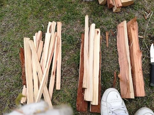 焚火の基本 薪の種類